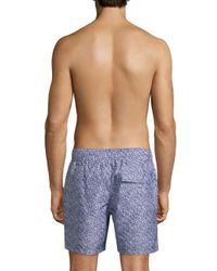 Slate & Stone - Blue Printed Swim Shorts for Men - Lyst