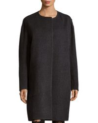 Vince - Gray Reversible Long Coat - Lyst