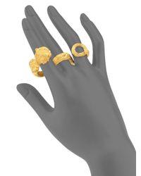 Valentino - Metallic Monkey Three-finger Ring - Lyst