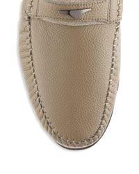 Zanzara - Multicolor Pebbled Leather Loafers for Men - Lyst