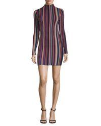 Ronny Kobo - Purple Jessica Striped Mini Dress - Lyst