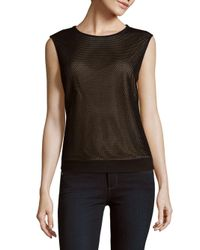 Akris - Black Woven Sleeveless Top - Lyst