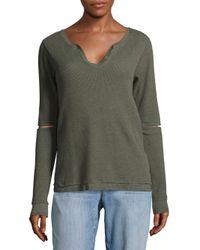 Joe's - Green Thermal Rib-knit Sweatshirt - Lyst