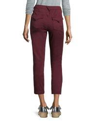 Joie - Purple Cropped Skinny Pants - Lyst