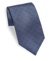 Saks Fifth Avenue - Blue Box Printed Silk Tie for Men - Lyst