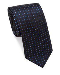 Brioni - Blue Multi Mini Dots Silk Tie for Men - Lyst