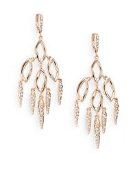 Alexis Bittar - Metallic Elements Phoenix Labradorite & Crystal Dangle Shard Two-tier Chandelier Earrings - Lyst