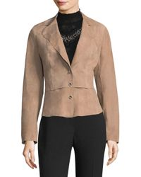 Elie Tahari - Multicolor Sally Notched-lapel Leather Blazer - Lyst