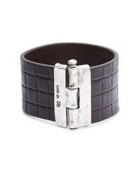 Uno De 50 | Metallic Textured Leather Bracelet | Lyst