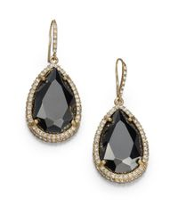 ABS By Allen Schwartz - Black Faceted Drop Earrings - Lyst