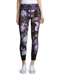 Nanette Lepore - Black Floral Leggings - Lyst