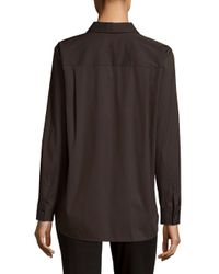 Lafayette 148 New York - Multicolor Brody Striped Button-down Shirt - Lyst