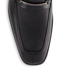 Calvin Klein - Black Gallard Leather Loafers for Men - Lyst