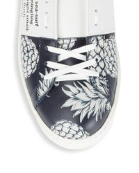 Valentino - Multicolor Printed Leather Sneakers - Lyst