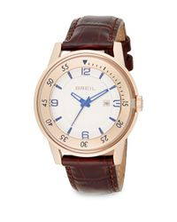 Breil | Pink Rose Goldtone Stainless Steel & Embossed Leather Watch | Lyst