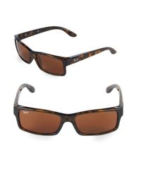 Ray-Ban - Brown 59mm Rectangle Sunglasses for Men - Lyst