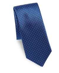Saks Fifth Avenue | Blue Textured Dot Silk Tie for Men | Lyst