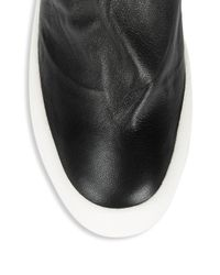 Giuseppe Zanotti - Black Pull-on Leather Ankle Boots - Lyst