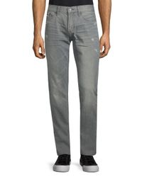 Jean Shop - Gray Mick Slim-fit Cotton Jeans for Men - Lyst