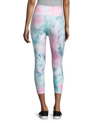 Nanette Lepore | Blue Watercolor Athletic Capri Leggings | Lyst