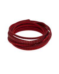 Swarovski - Red Slake Crystal Wrap Bracelet - Lyst