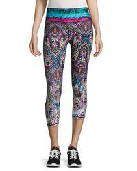 Nanette Lepore | Blue Paisley Cropped Yoga Pants | Lyst