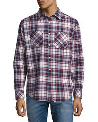 Standard Issue - Blue Plaid Cotton Button-down Shirt for Men - Lyst