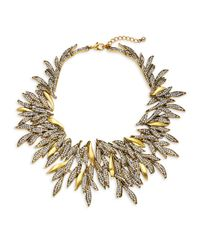 Saks Fifth Avenue - Metallic Crystal Leaf Statement Necklace - Lyst