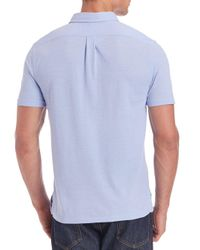 Ralph Lauren Blue Label - White Solid Cotton Polo for Men - Lyst