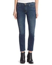 Mother - Blue Rascal Raw-edge Straight-leg Ankle Snippet Jeans - Lyst