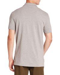 Ralph Lauren Blue Label - Gray Heathered Polo Shirt for Men - Lyst