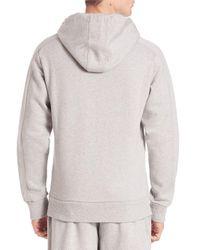 Les Benjamins - Gray Solid Hoodie With Kangaroo Pockets for Men - Lyst