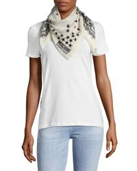 Moschino - White Mixed-print Silk Scarf - Lyst