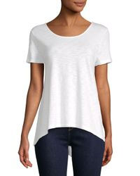 Saks Fifth Avenue - White Bar Back Tee Shirt - Lyst