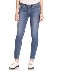 PAIGE - Blue Verdugo Transcend Ankle Skinny Jeans - Lyst
