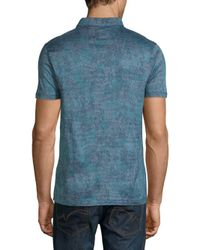 BOSS - Blue Preston Printed Cotton Polo for Men - Lyst