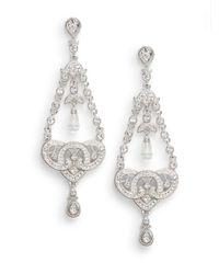 Adriana Orsini - Gray Pavà Knot Chandelier Earrings - Lyst