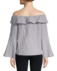Lovers + Friends - Gray Jane Cotton Off-the-shoulder Blouse - Lyst