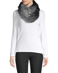La Fiorentina - Gray Two-tone Fur Scarf - Lyst