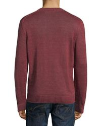 Corneliani Red Wool Knit Crewneck Sweater for men