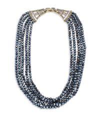 Heidi Daus - Blue Crystal Multi-strand Necklace - Lyst