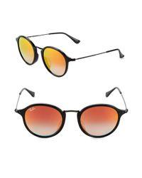 Ray-Ban - Orange 49mm Round Phantos Sunglasses - Lyst