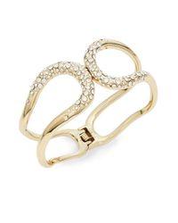 Alexis Bittar - Metallic Miss Havisham Liquid Crystal Hinged Bracelet/goldtone - Lyst