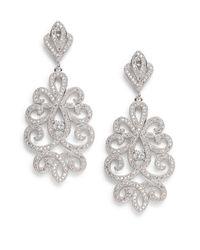 Saks Fifth Avenue - Metallic Openwork Drop Earrings - Lyst