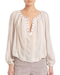 Leifsdottir - White Against All Odds Snap Blouse - Lyst