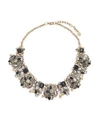 Saks Fifth Avenue - Metallic Crystal Statement Necklace - Lyst
