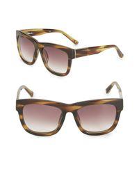 3.1 Phillip Lim - Brown 56mm Square Gradient Sunglasses - Lyst