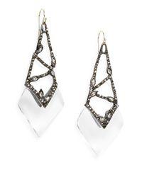 Alexis Bittar - Multicolor Cubist Lucite & Crystal Drop Earrings - Lyst