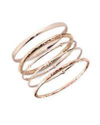 Ippolita - Metallic Rosé Carino #2 Hammered Bangle Bracelet - Lyst