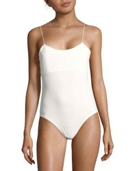 Tibi - White Stretch Kate Bodysuit - Lyst